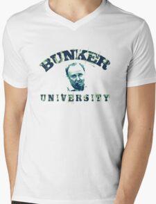 BUNKER UNIVERSITY Mens V-Neck T-Shirt