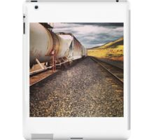 Abandoned Rusty Boxcars Waiting for the Storm iPad Case/Skin