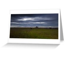 Holy Island Castle  - Panoramic Greeting Card