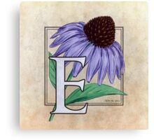 E is for Echinacea Canvas Print