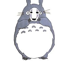 No Face Totoro by sillyspoons