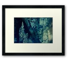 Stone Through Water Framed Print