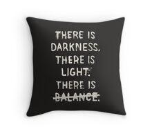 NO BALANCE Throw Pillow