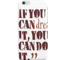 inspirational life quotes for motivation iPhone Case/Skin