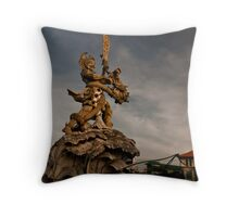 Bali Roadside Art. Throw Pillow
