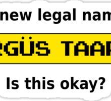 Taargus Taargus Sticker