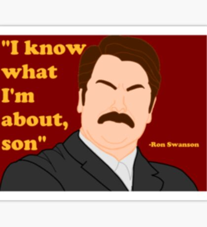 Parks and Rec - Ron Sticker