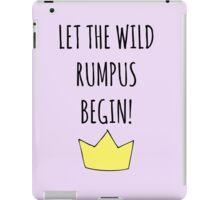 Let The Wild Rumpus Begin! iPad Case/Skin