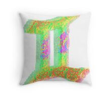 Gemini Psychedelic Throw Pillow