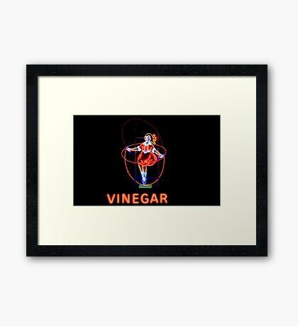 Skipping Girl Vinegar Framed Print