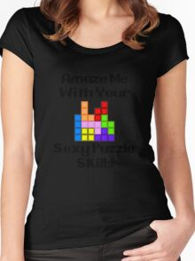 Sexy Puzzle Skills  Women's Fitted Scoop T-Shirt