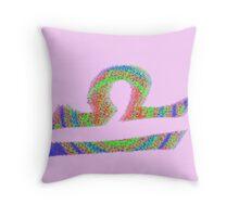 Libra Psychedelic Throw Pillow