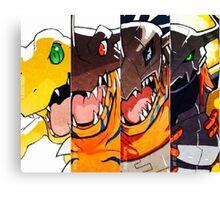 Greymon evolution Canvas Print