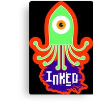 INKED! - Squid squirting ink Canvas Print