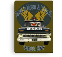 Air Force Peacekeepers: Death From A Truck Canvas Print