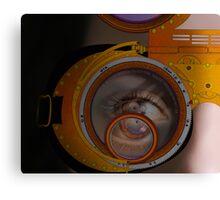 eye as a lens - steampunk variations - zoom Canvas Print