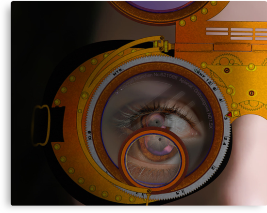 eye as a lens - steampunk variations - zoom by dennis william gaylor