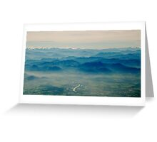 mountains in your memory appear closer than they are Greeting Card