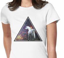 Galaxy unicorn triangle Womens Fitted T-Shirt
