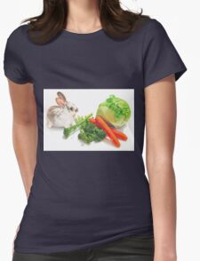 Bunny Banquet Womens Fitted T-Shirt