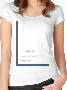 Tumblr - Delete This Post. Women's Fitted Scoop T-Shirt
