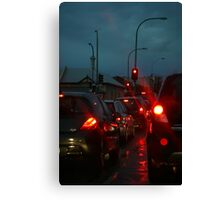 Adelaide traffic - rush hour on a rainy night Canvas Print