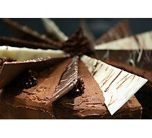 Delicious, gooey, tempting chocolate cake Photographic Print