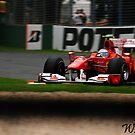 Fernando Alonso by Waqar
