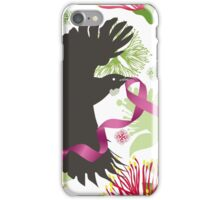 Flying Tuis, Pink Ribbon and Pohutukawas iPhone Case/Skin