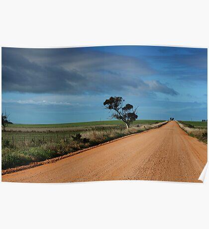 Australian dirt road in the Flinders Ranges Poster