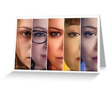 Orphan black (images) Greeting Card