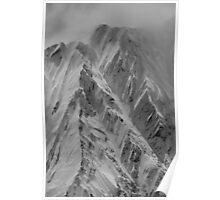 Mountain Range NZ Poster