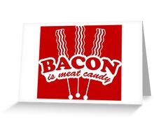 BACON 3 Greeting Card