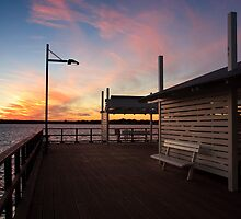 Woody Point Jetty at sunset by John Quixley
