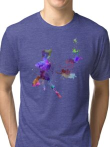 Peter Pan in watercolor Tri-blend T-Shirt