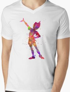 Peter Pan in watercolor Mens V-Neck T-Shirt