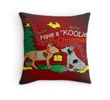 Have a Koolie Christmas Throw Pillow