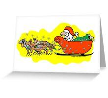 Santas Sleigh, Koolie Style Greeting Card