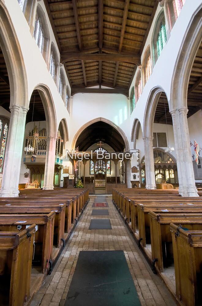 Flatford Church Interior by Nigel Bangert