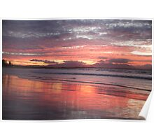 sunset at Byron 3 Poster