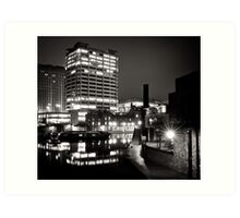 Stroll down by the canal basin Art Print