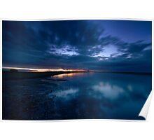Holy Island Causeway - Sunset Poster