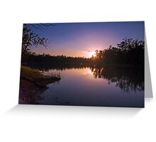 Murray River Sunset - Above Renmark, South Australia Greeting Card