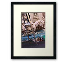 Shhhh, artist at work! Framed Print