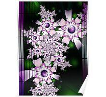 Purple Rain of Flowers Poster