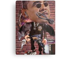 """Obama...Time-Cop""....Equinox Transfusion of the Space/Time Continuum"" Metal Print"