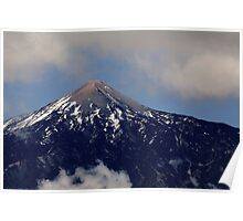 Snow capped Volcano Poster
