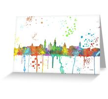 Glasgow Skyline Greeting Card