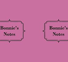 Bonnie's notes - formal by Fiona Doyle