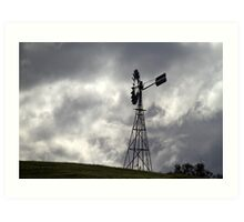 Lonely Windmill Art Print